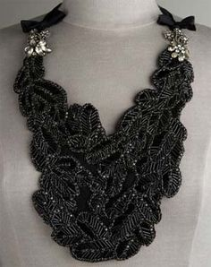 vintage inspired bib necklace - vera wang.