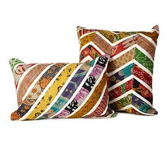 Look what I found at UncommonGoods: chevron sari pillows... for $50 #uncommongoods