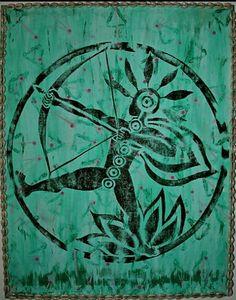 Oxossi, Orixa of the hunt by Ginga Helen Dos Santos
