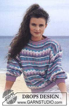 Patricia pattern by DROPS design Knitting Kits, Sweater Knitting Patterns, Free Knitting, Crochet Patterns, Drops Design, Pull Jacquard, Magazine Drops, Winter Outfits, Jackets