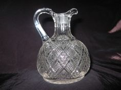 "EAPG 1894 Greensburg Glass Co/Model Flint Glass Co. 'TACOMA""  Flint glass Cruet"