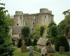 Nunney Castle, Somerset - Built in the late 14th century by Sir John Delamare, the moated castle's architectural style, possibly influenced by the design of French castles, has provoked considerable academic debate.