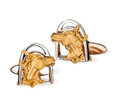 Carrera y Carrera - Gemelos Caballo Cufflinks in White and Yellow Gold. Carat Gold, Jewelry Branding, Wedding Ring Bands, Bridal Jewelry, Gentleman, Personal Style, Two By Two, Cufflinks, Fine Jewelry