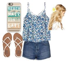 """Beach day"" by sydneykimora ❤ liked on Polyvore featuring Topshop, Casetify, Billabong and ASOS"