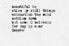 Sappho and love