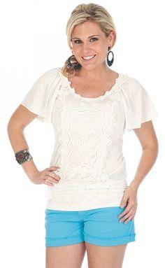 Womens Wrangler Vanilla Ice Short Sleeve Jersey Shirt