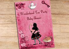 Alice In Wonderland Pink Flamingo Baby by MollySkyInvitations, $14.99