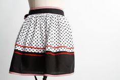 Suzy Blue Half Apron – Vintage Style Aprons By Violet Jones Retro Apron, Aprons Vintage, Vintage Style, Vintage Fashion, Half Apron, Suzy, Cheer Skirts, Handmade, Blue