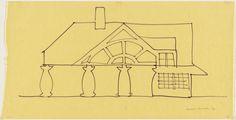 Sketch : House in New Castle County Delaware (1978-83) | Robert Venturi, John Rauch, and Denise Scott Brown