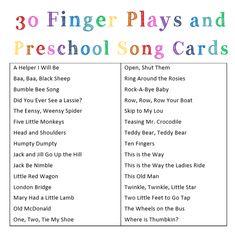 Finger Plays and Preschool Songs - Heather Haupt