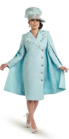 Donna Vinci 11510 Womens Embellished Dress With Cape Spring 2017