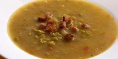 Receita de sopa de ervilha com bacon