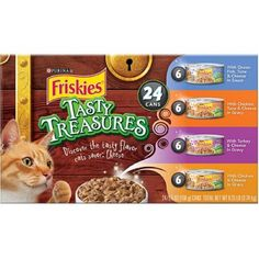 Friskies Tasty Treasures, 24 Cans, Large ** Click on the image for additional details.