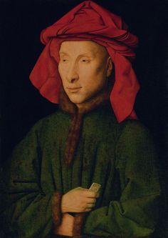 Jan Van Eyck. Portrait of an Arnolfini. Undated. Gemäldegalerie, Berlin.
