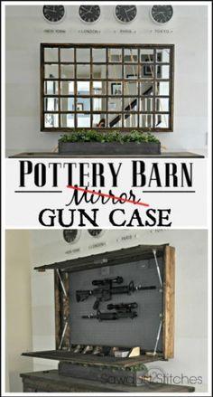Pottery Barn Mirror Hidden Gun Case Sawdust2stitches
