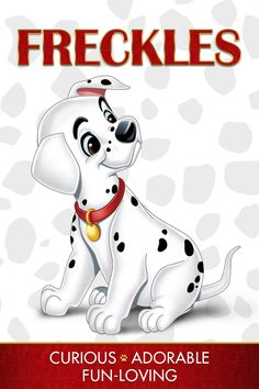Freckles - Curious, Adorable, Fun-Loving  Who is your inner One Hundred and One Dalmatians character?   Unleash all the excitement of Disney's beloved classic One Hundred and One Dalmatians, for the first time on Blu-ray and Digital HD on Feb. 10!