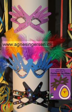 Håndmaske nytårsudgave « Agnes´ kreative univers - aaron Baby Crafts, Kids Crafts, Diy And Crafts, Arts And Crafts, Paper Crafts, Craft Activities For Kids, Diy For Girls, Christmas Crafts For Kids, Creative Kids