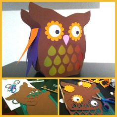 Owl Lantern - perfect for St. Zoo Crafts, Baby Crafts, Diy For Kids, Crafts For Kids, Owl Lantern, Waldorf Crafts, Forest Animals, Halloween 2020, Lanterns
