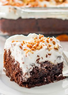 Better Than Sex Chocolate Poke Cake- With a naughty name like that, you'd better believe this chocolate poke cake is magical.