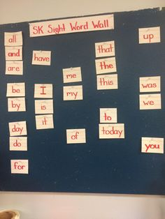 "Sight Word Wall: As Cunningham explains in Classrooms That Work, having students do a word wall is quite different from merely having one in the classroom. In order to become effective readers, ""Students need to be exposed to high frequency words with the aid of a word wall, to become able to recognize, read effectively, and advance their fluency"" (CTW, p.54)."