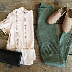 """The perfect outfit for this weekend! Shirt: $28.00 Leggings: $42.00 (available…"
