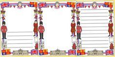 Royal Page Borders - royal, royal family, Queen, London, monarchy, page border, border, writing template, writing aid, writing, royal family resources