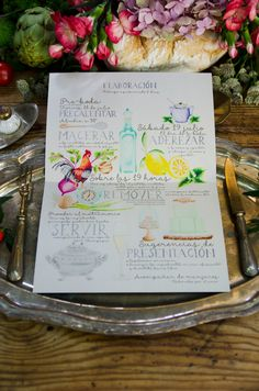 "Wedding invitation themed as ""cooking"" or ""recipe"". Wedding texts were so goood we couldn't help but to watercolor it... <3   By Save the date projects  #Savethedateprojects #Weddinginvitation #Invitacionesdeboda #Boda #Wedding"