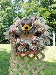 Scarecrow Wreath, Scarecrow Face Wreath,Scarecrow, Rustic Wreath, Fall Wreath