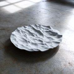 "just-good-design: ""Pocket Ocean Design "" Ceramic Plates, Ceramic Pottery, Pottery Art, Ceramic Art, Sculptures Céramiques, Sculpture Art, Mathieu Lehanneur, Ceramic Texture, Ceramic Design"