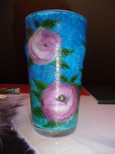 szklanka kwiatów