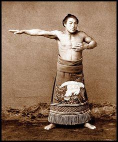 Old school sumo wrestler