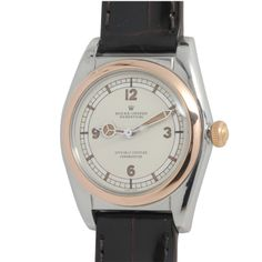 Rolex Stainless Steel and Rose Gold Bubbleback Wristwatch circa 1948
