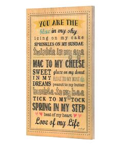Love of My Life Wall Décor | zulily
