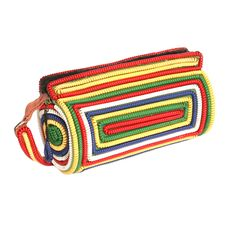 1970's Colorful Phone Cord Shoulder Bag