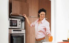 AVENTOS HL is the ideal lift up system for niche cabinets with cabinets positioned above them...