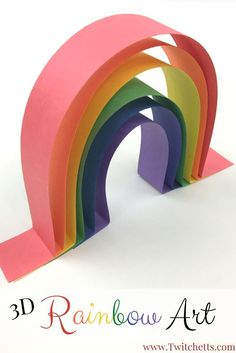 How to make simple rainbow art that is amazing - Twitchetts Rainbow Art made from construction paper. These easy construction paper crafts for kids will help teach your child to wait for the glue to dry. Construction paper Rainbow crafts for kids. Paper Crafts For Kids, Easy Crafts For Kids, Summer Crafts, Toddler Crafts, Crafts To Do, Projects For Kids, Art For Kids, Diy Paper, Easy Preschool Crafts