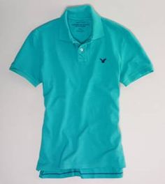 Polo Shirts for Men - American Eagle Outfitters Nice cool color for spring and summer
