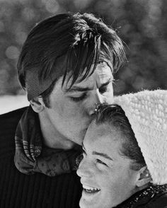 Romy Schneider with Alain Delon Before her early death, Romy's only son was killed at 14, her stepfather had embezzled almost all of her lifetime earnings and both of her parents had died.