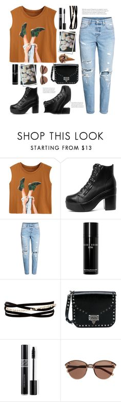 """Let's hang out"" by j4wahir ❤ liked on Polyvore featuring H&M, Bobbi Brown Cosmetics, Kenneth Jay Lane, Valentino, Christian Dior, Witchery, boyfriendjeans, womensFashion, polyvorefashion and polyvoreset"