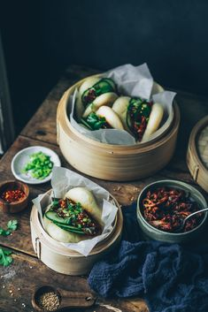 Gua Bao au pulled pork sur Styliste Gua Bao, Pulled Pork, Chinese Food, Asian Recipes, Yummy Food, Cooking, Challenge, Photos