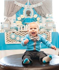 Little Man Bow Tie Themed Birthday Party {Planning, Decor, Ideas} Birthday Party Snacks, Birthday Crafts, Birthday Cupcakes, First Birthday Parties, First Birthdays, Birthday Ideas, First Birthday Board, Little Man Birthday, Teen Birthday