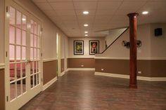 Basement #Flooring Work Chicago modern #basement