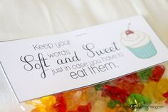 Keep Your Words Soft and Sweet Handout Printable- Young Women Devotional - Tips from a Typical Mom Young Women Handouts, Young Women Lessons, Young Women Activities, Water Games For Kids, Indoor Activities For Kids, Family Activities, Outdoor Activities, Summer Fun List, Summer Kids