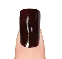 layla gel polish 10 - red black