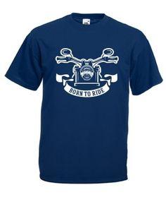 Born to ride Mens Tops, T Shirt, Fashion, Tee, Moda, La Mode, Fasion, Fashion Models, Tee Shirt