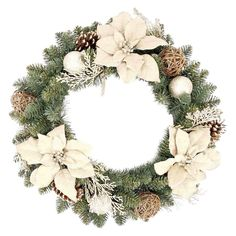 """24"""" Holiday Poinsettia Burlap Wreath--want to make my own like this"""