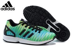 b0e948970949f Men s adidas Originals ZX Flux Print Shoes Fruit Green Black