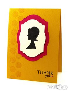 Clean & Graphic Silhouette Thank You Card by @Julie Forrest Campbell