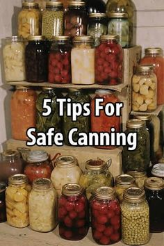 Canning is an efficient method of home food preservation. Jars are easy to store and, provided they don't freeze, the food stays good for a long time time.