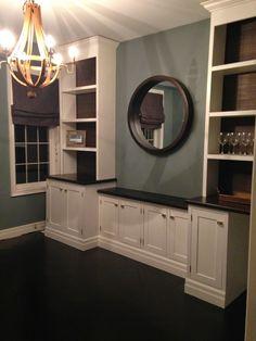 chriskauffman.blogspot.ca: Dining room built ins...are complete, DIY, built ins, dining room, white custom cuilt ins, DIY doors